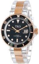 Rosegold TKO ORLOGI Women's TK500-RB Venezia Steel Plastic Case and Bracelet Watch