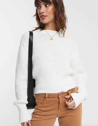 French Connection waffle knit jumper