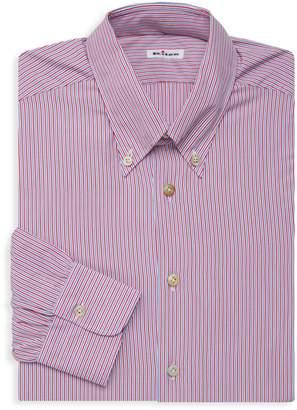Kiton Striped Long-Sleeve Dress Shirt