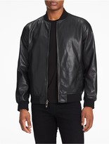 Calvin Klein Faux Leather Camo Twill Reversible Jacket