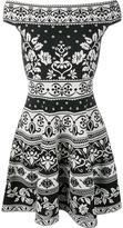 Alexander McQueen floral jacquard mini dress - women - Polyamide/Polyester/Spandex/Elastane/Viscose - XS