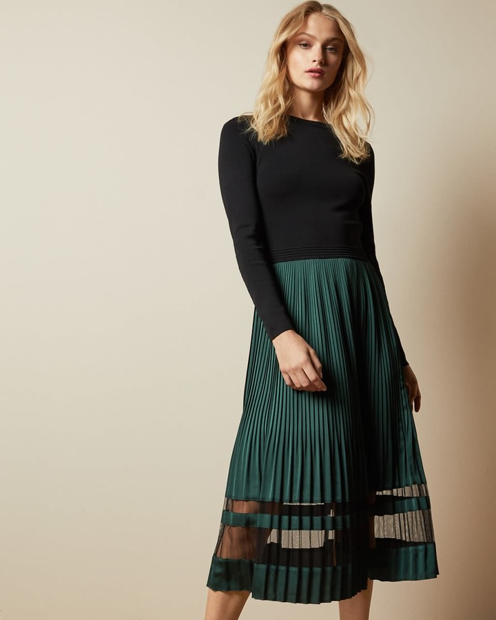 Ted Baker Knitted Long Sleeved Dress
