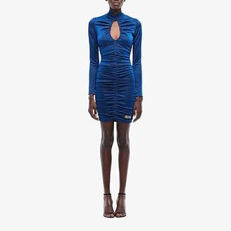 Versace Long Sleeve Mini Dress (Blue) Women's Clothing