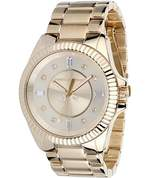 Juicy Couture Stella Women's Quartz Watch with Gold Dial Analogue Display and Gold Stainless Steel Plated Bracelet 1900929