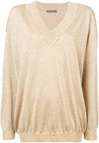 Alberta Ferretti V neck knitted top - women - Polyamide/Polyester/Spandex/Elastane/Viscose - 38