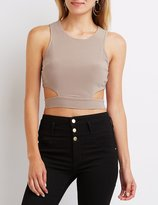Charlotte Russe Cut-Out Back Crop Top