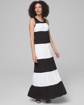 Soma Intimates Colorblock Maxi Dress with Built-In Bra