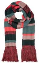 Burberry Striped Rib Knit Scarf