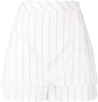 Patrizia Pepe Striped Fitted Shorts