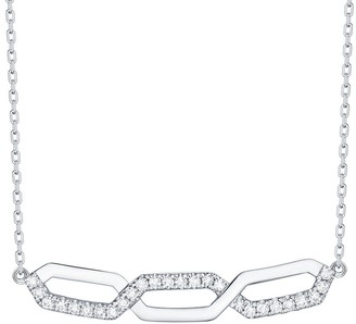 Lab Grown Diamond Link Necklace, 1/6 Ctw 10K Solid Gold by Smiling Rocks