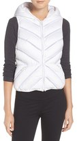 Blanc Noir Women's Hooded Puffer Vest