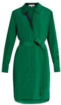 Diane von Furstenberg Bi-colour silk shirtdress