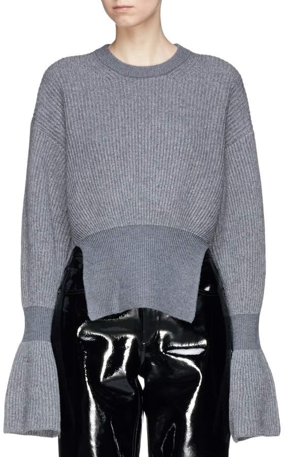 Alexander Wang Flared cuff rib knit sweater