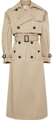 Valentino Button-detailed Cutout Gabardine Trench Coat