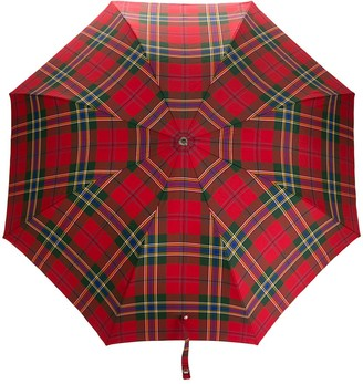 Alexander McQueen Plaid Printed Umbrella