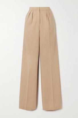 Max Mara Jadi Camel Hair-jersey Wide-leg Pants - Beige