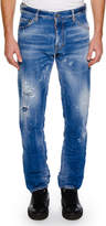Dsquared2 Men's Distressed Slim-Fit Jeans