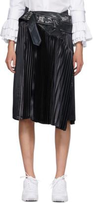Junya Watanabe Black Pleated Trench Skirt