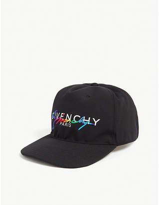 Rainbow logo nylon baseball cap