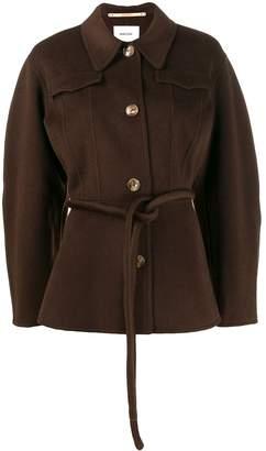 Nanushka tie waist fitted jacket