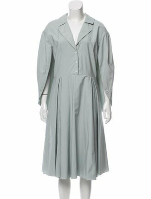 Rosie Assoulin Caped Poplin Shirtdress w/ Tags blue