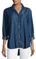 Neon Buddha Endless Denim Shirt w/ Mixed Buttons, Plus Size