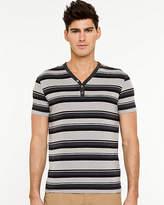 Le Château Stripe Knit Henley T-shirt