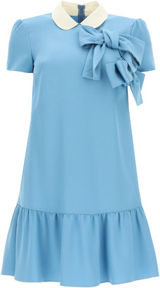 RED Valentino MINI DRESS WITH BOWS 38 Blue, White