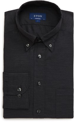 Eton Soft Collection Contemporary Fit Solid Dress Shirt