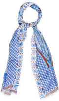 Etro Raw-Edge Printed Scarf