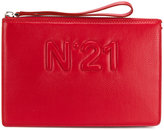 No.21 logo embossed clutch