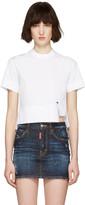 DSQUARED2 White Poplin Mini Blouse T-Shirt