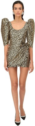 Alessandra Rich Lurex Leo Jacquard Mini Dress