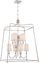 Crystorama Sylvan 8-Light Flax Chandelier