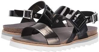 Wolky Minori (Black/Bronze Patent) Women's Shoes