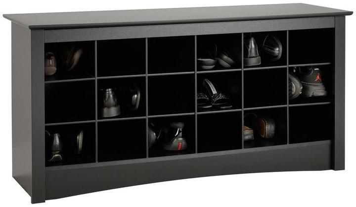Prepac Sonoma Shoe Storage Cubbie Bench