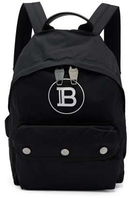 Balmain Logo-print Technical Backpack - Mens - Black