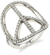 Thumbnail for your product : Sheryl Lowe Pave Diamond Peace Ring