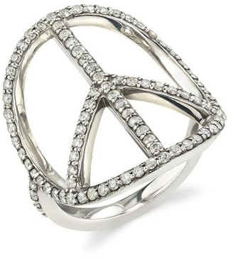 Sheryl Lowe Pave Diamond Peace Ring