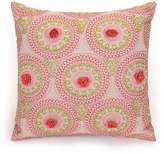 Jessica Simpson Amrita Medallion-Embroidered Wood-Beaded Floral Crochet Square Pillow