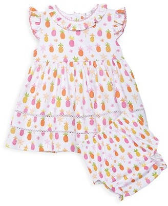 Kissy Kissy Baby Girl's 2-Piece Pineapple Dress & Bloomers Set