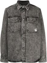 Diesel acid-wash denim shirt