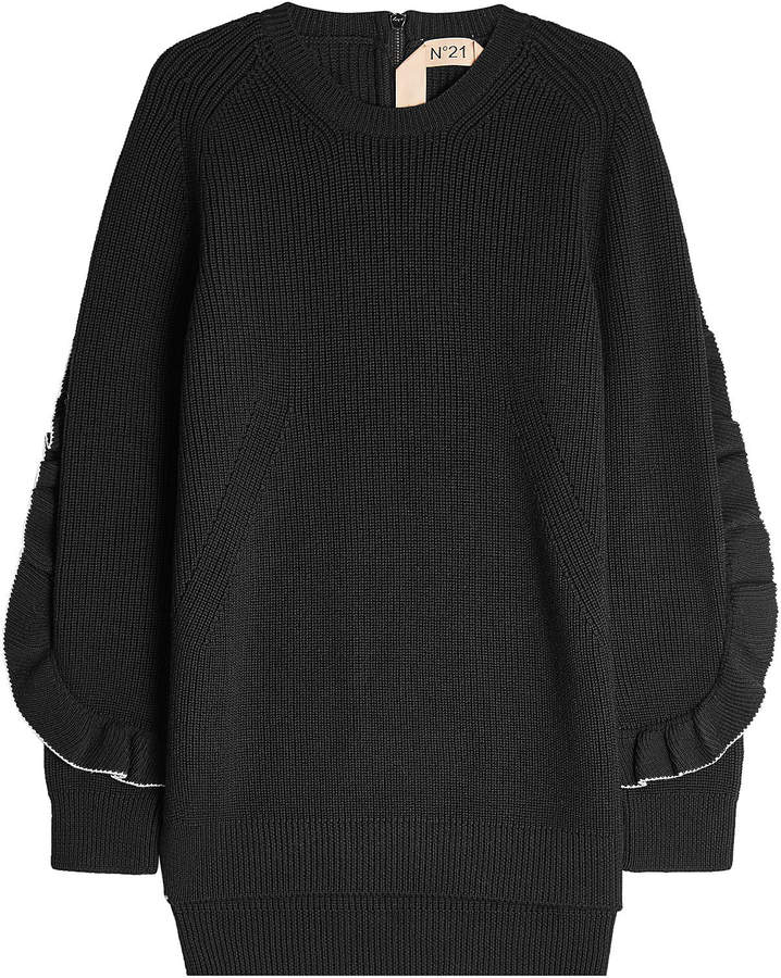 N°21 N21 Wool Pullover with Ruffle Trim