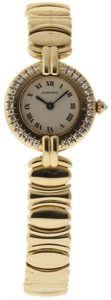 Cartier Colisee 0525 18K Yellow Gold 23mm Womens Watch