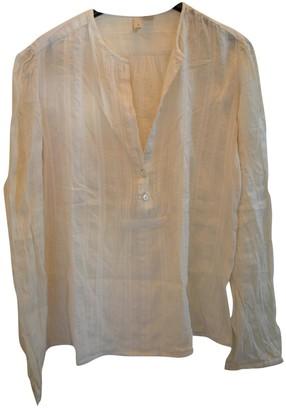MANGO Ecru Cotton Top for Women