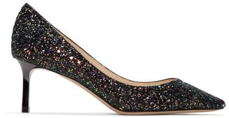 Jimmy Choo SSENSE Exclusive Multicolor Coarse Glitter Romy Heel