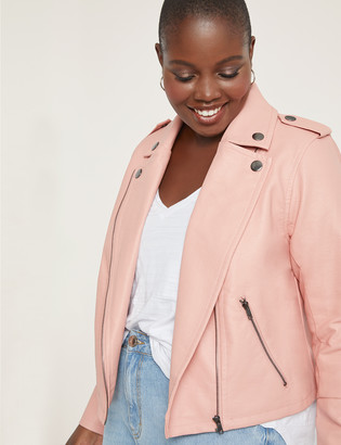 ELOQUII Faux Leather Moto Jacket