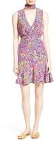 Saloni Women's Fleur Print Silk Dress