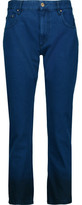 Etoile Isabel Marant Priest Mid-Rise Cropped Straight-Leg Jeans