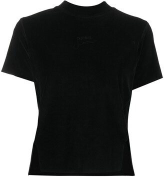 Song For The Mute slit detail crew neck T-Shirt